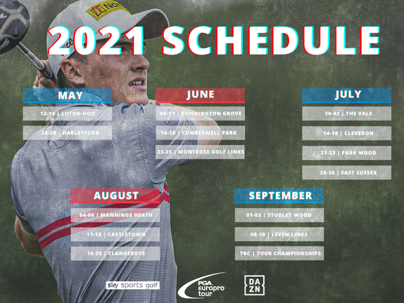 PGA EuroPro Tour 2021 schedule announced