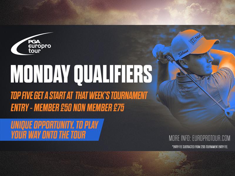 Tour pleased to confirm Amateur entrants allowed at Monday Qualifiers