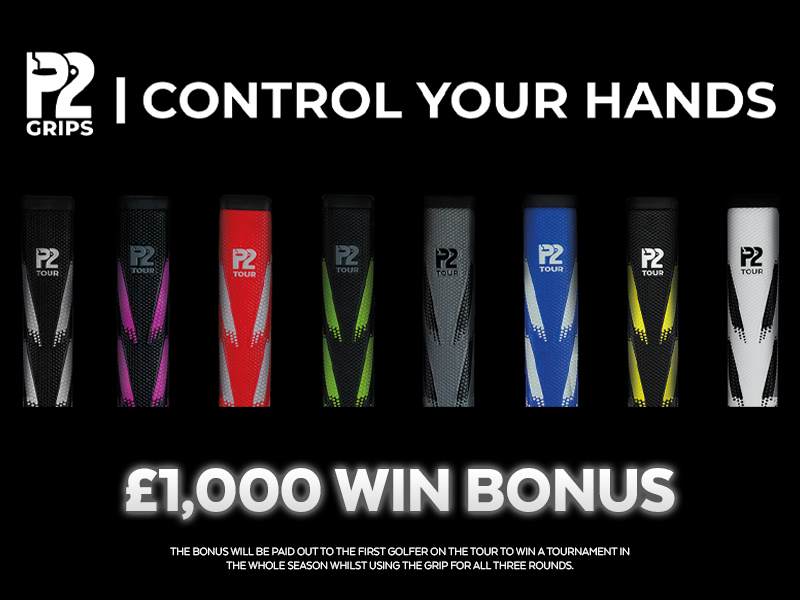 P2 Grips confirmed as Official Grip of Tour with player win bonus on offer
