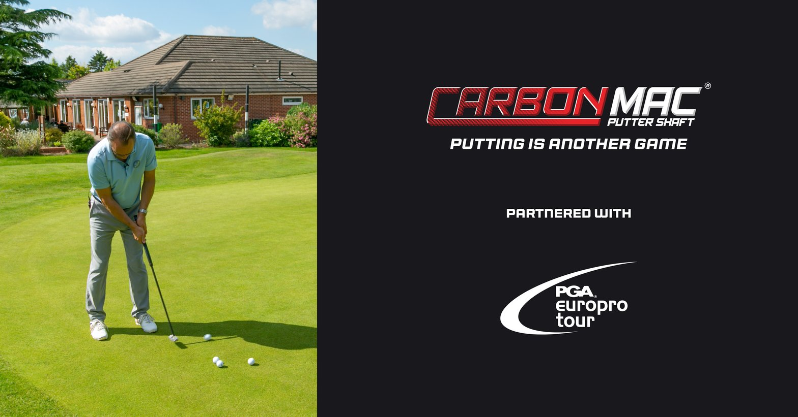 Carbon Mac the new official putter shaft of the PGA EuroPro Tour